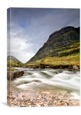 Glen Coe Mountain Pass, Canvas Print