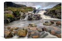 The Falls at Glen Coe, Canvas Print