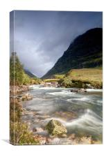 Glen Coe Waterway, Canvas Print