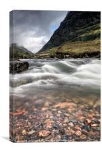 Glen Coe Pebbles, Canvas Print
