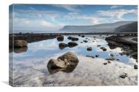 Robin Hood's Bay Reflections, Canvas Print