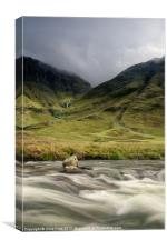 Glen Coe Valley, Canvas Print