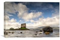 Low Tide at Stalker Castle, Canvas Print