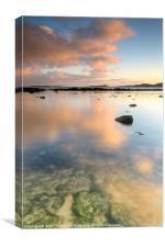 Dunstanburgh Castle Reflections, Canvas Print