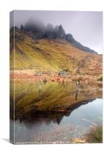 Old Man of Storr Reflections, Canvas Print
