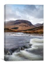 River Etive Flow, Canvas Print