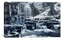 Frozen Scaleber Force Falls, Canvas Print