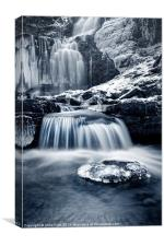 Fresh Falls at Scaleber Force, Canvas Print