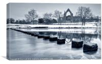 Bolton Abbey Reflections, Canvas Print