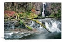 Catrigg Foss Falls, Canvas Print