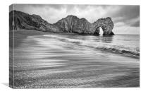 Waves at Durdle Door, Canvas Print