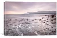 Crazy Paving at Kimmeridge Bay, Canvas Print