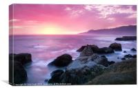 Sunset at Shelter Cove, Canvas Print