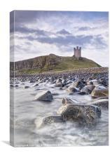 Dunstanburgh Castle Boulders, Canvas Print