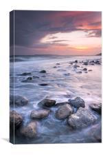Osmington Mills Sunset, Canvas Print