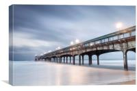 Dawn at Boscombe Pier, Canvas Print