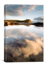Clavell Tower Reflections, Canvas Print