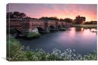 White Mill Bridge, Canvas Print