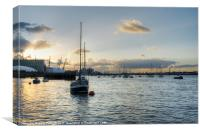 From the Thames, Canvas Print