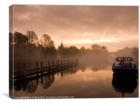 Morning Mist on the Thames, Canvas Print