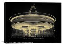 Lighting Up London - Mono, Canvas Print