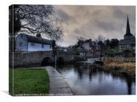 River at Eynsford, Canvas Print