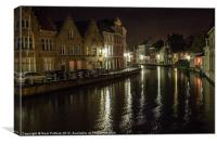 Canal at Night, Canvas Print