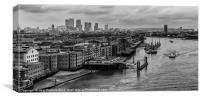 Winding Through London, Canvas Print