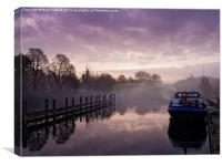 Misty Morning on the Thames, Canvas Print