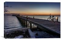 The Dawn Cyclist, Canvas Print