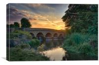 Sunset at Five Arches, Canvas Print