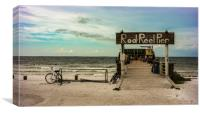 Rod & Reel Pier and a Bike, Canvas Print