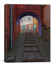 Colourful Town, Canvas Print