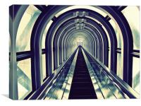 Escalator in Umeda Sky Building, Canvas Print