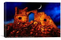 Moonlit Castle, Canvas Print