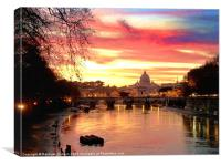 Vatican sunset, Canvas Print