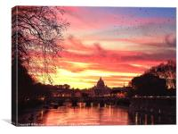 Vatican nightlife, Canvas Print