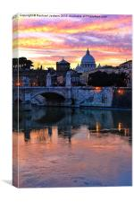 Vatican by Night, Canvas Print