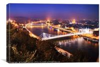 Light up the Danube, Canvas Print