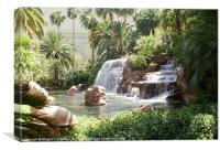 Waterfall at Mirage las vegas, Canvas Print