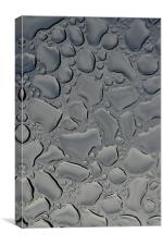 rain water on glass, Canvas Print
