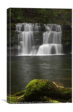 Timeless Waterfall, Ystradfellte, Cymru, Canvas Print