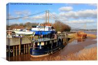 Humber Bridge Boatyard, Canvas Print