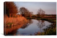 Along the Tow Path, Canvas Print