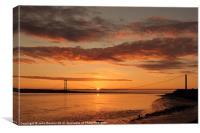 Humber Bridge Sunrise, Canvas Print