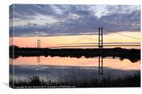 Humber Bridge Dawn, Canvas Print