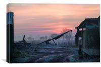 Dawn on the Farm, Canvas Print