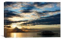 West Pier Sunset, Canvas Print