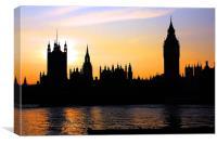 Westminster Skyline, Canvas Print