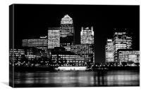 Canary Wharf Skyline, Canvas Print